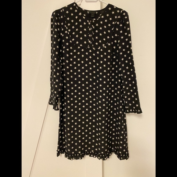 J crew star print dress size 4